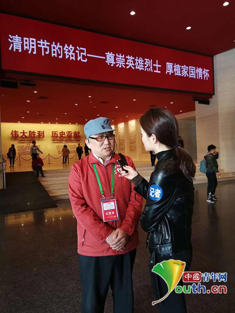 """张林虎""""志愿讲解员""""林汉京:行走在抗战馆的""""历史教科书"""""""